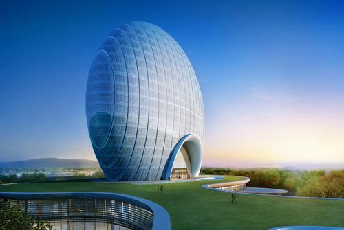 The 306-bedroom Yanqi Lake Kempinski Hotel Beijing forms part of the ambitious Yanqi Lake development
