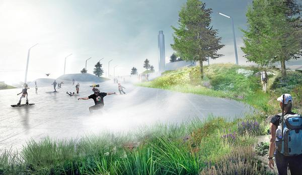 The design invites Copenhagen's residents to make use of the waste plant and incorporate it into the city