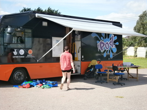 The POD play bus has helped improve the lives of families in 70 communities in North Kesteven, East Midlands