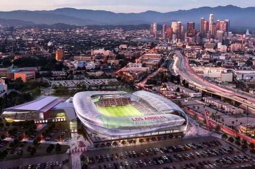The early designs for the stadium have been created by LA-based architects Gensler