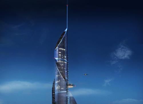 The tallest tower rises a record-breaking 964m into the sky / AMBS Architects
