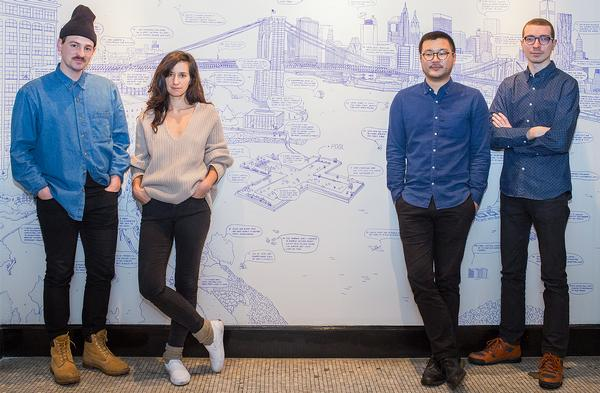 From left to right: Archie Lee Coates IV, Oana Stanescu, Dong-Ping Wong and Jeffrey Franklin