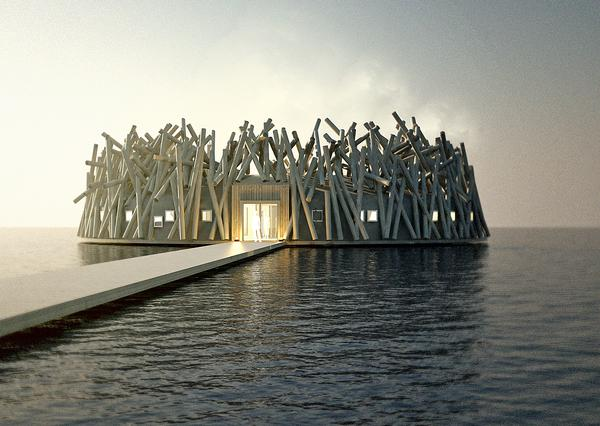 Designs for the Arctic Bath, due to open in Sweden in 2018