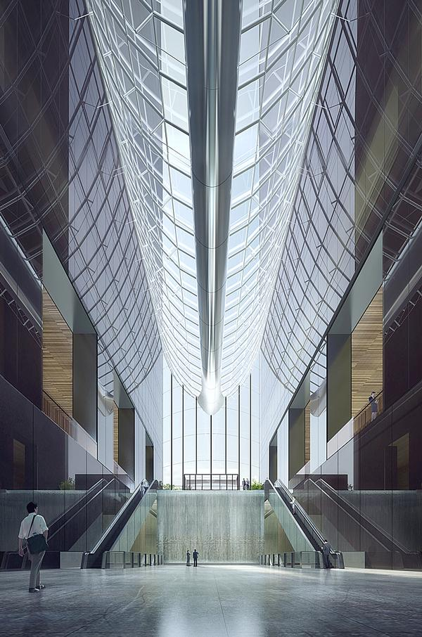The Chaoyang Park Plaza project topped out in June 2015. The project is located in Beijing's Central Business District and reaches a height of 120m