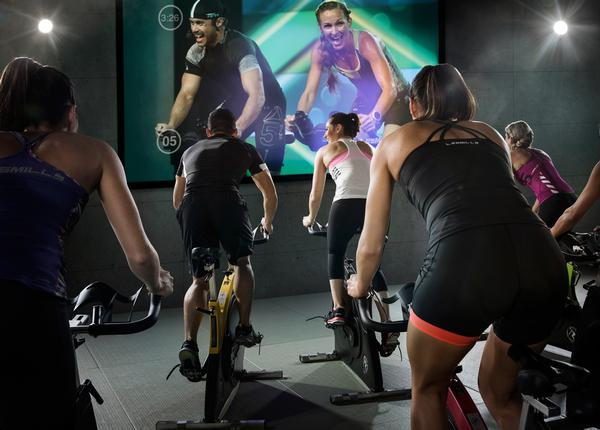 DLL currently carries Les Mills Virtual classes (pictured) and The Sufferfest in its health clubs