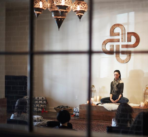 Den Meditation in LA has a casual vibe, like a 'hip, cool living room' where people like to hang out