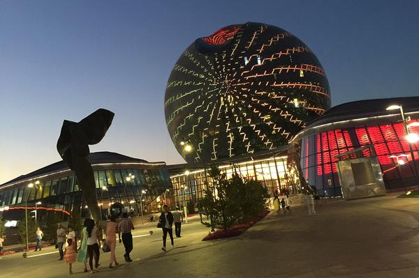 Kazakhstan's National Pavilion, designed by Smith and Gill, formed a centrepiece at the Expo