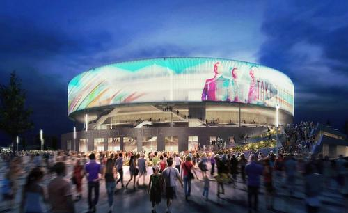 Populous' winning design for Bristol Arena, a multi-purpose concert venue / Populous