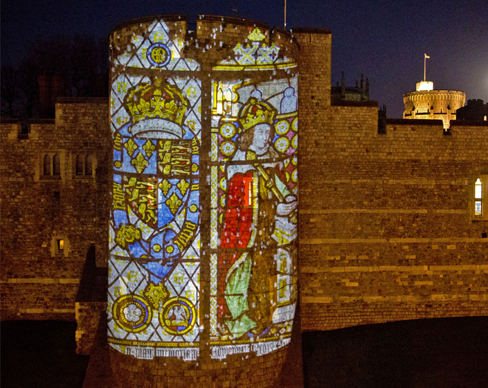 Digital art specialists Projection Studio light up Windsor Castle for Christmas