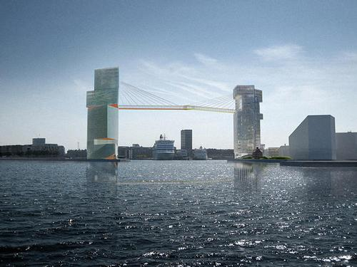 Copenhagen Gate is one of seven new bike bridges for the city / Steven Holl