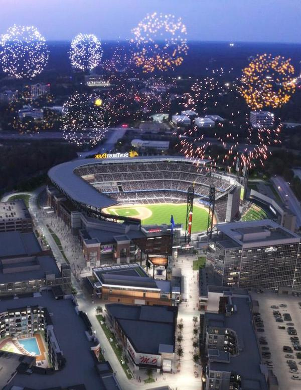 The Braves' stadium will open in 2017