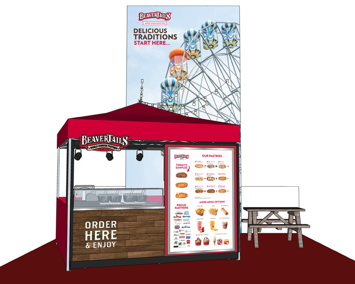 The custom cart can serve up to 90 BeaverTail pastries an hour
