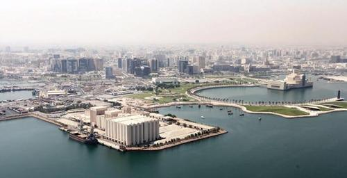 The gallery is sited on Doha's cultural and historic waterfront, next to I.M. Pei's Museum of Islamic Art