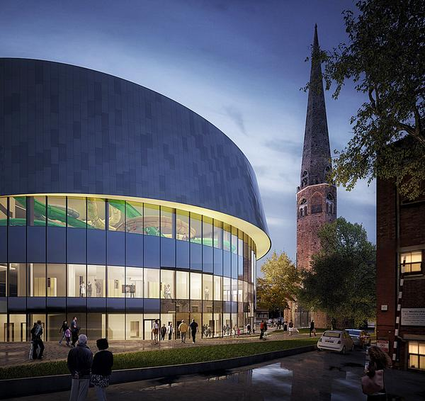 People using the Leisure Park will look out towards the city and spire