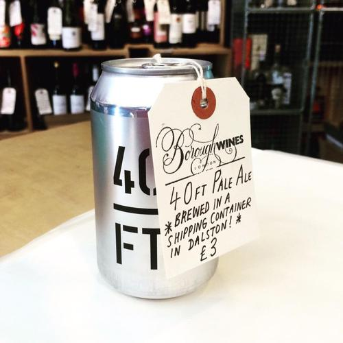 Local retailers stock and promote the product line / 40FT Brewery