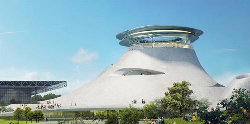 The museum has an appearance which wouldn't look out of place in a Star Wars universe / Lucas Museum of Narrative Art