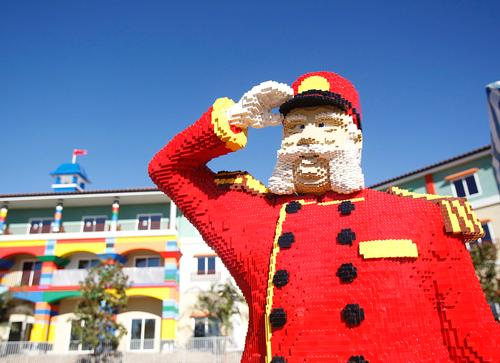 The 250-room hotel features more than 3,500 Lego models