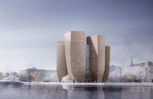 One of the entries submitted would give the Guggenheim a 'Beacon-like' appearance (finalist GH-76091181) / All images from Guggenheim Helsinki Design Competition
