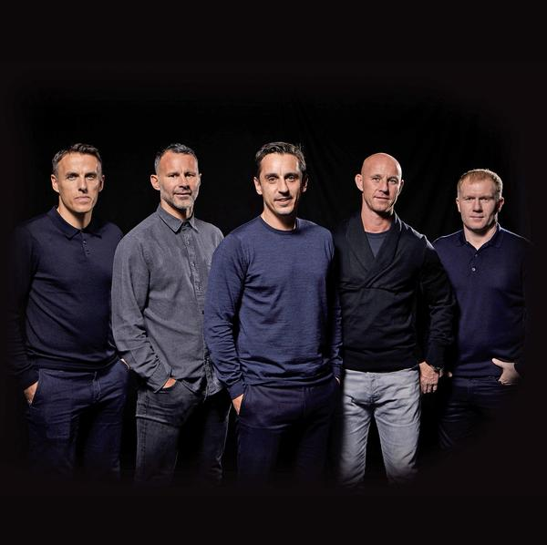 The Class of 92: (from left to right) Phil Neville, Ryan Giggs, Gary Neville, Nicky Butt and Paul Scholes