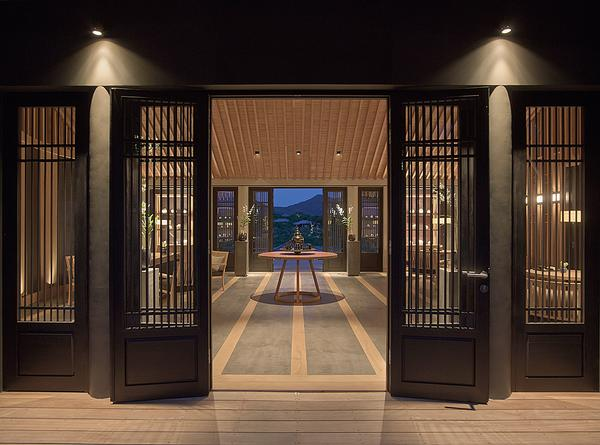 The Amanoi's spa has a formal reception, while inside the design is contemplative and mystical