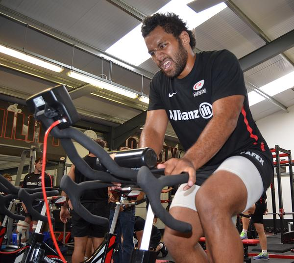 Cardio is a big part of Billy Vunipola from Saracens' workout