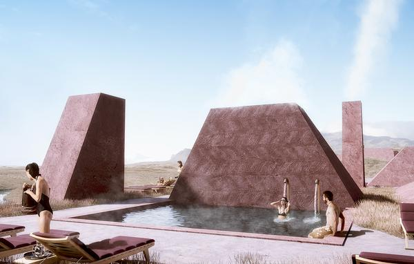 Johannes Torpe is behind the design of the Red Mountain Resort, which will blend into the landscape
