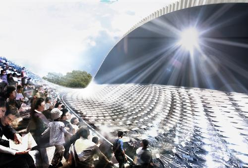 An artist's impression of the museum by Foster and Partners