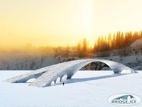 3D sketch of Leonardo da Vinci's Bridge Out of Ice / Eindhoven University of Technology