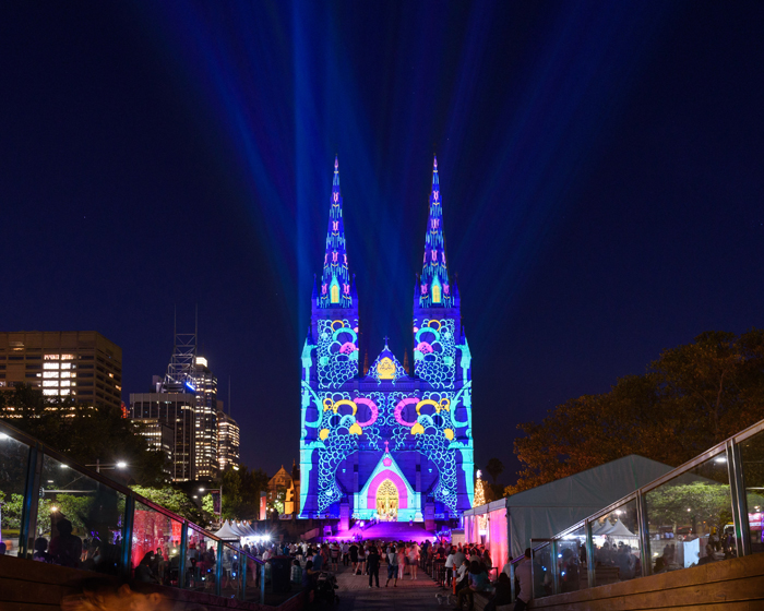Sydney cathedral becomes canvas for TDC light display
