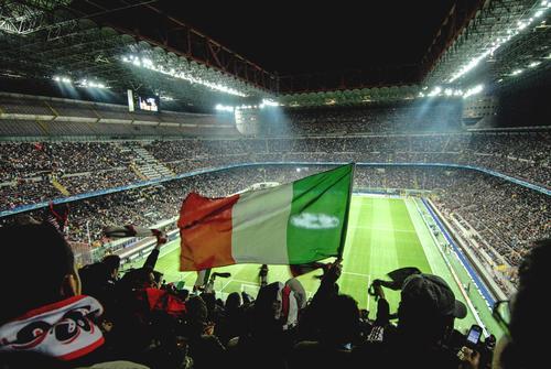 AC Milan currently plays its games at the 80,000-capacity San Siro