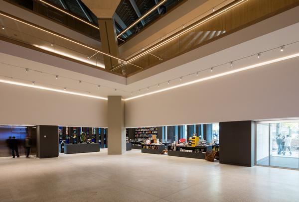Retail space on the ground floor / PHOTO: LUKE HAYES