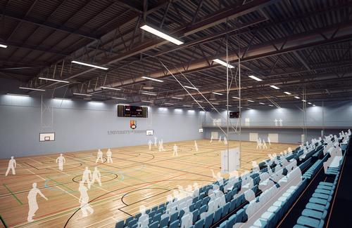 The new sports centre will include a triple sports hall intended to accommodate major national sporting events