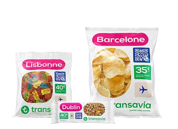 Challenging conventional pricing: Airline Transavia sold tickets as branded snack packets