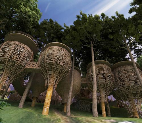 Designed by Thailand-based Architect Space along with Pisit Aongskultong from Pisud Design Company, the design is inspired by fictional early Phuket settlers / Keemala