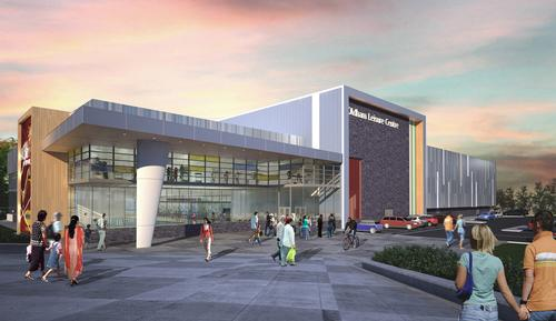 An artist's impression released today (29 January) offers a first glimpse of how Oldham Sports Centre could look / GT Architects