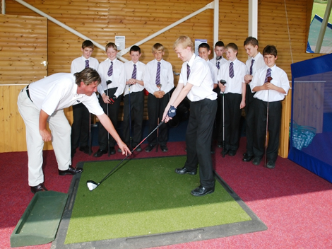 The trust's golf division aims to reduce the barriers to participation among young people by offering free club rental