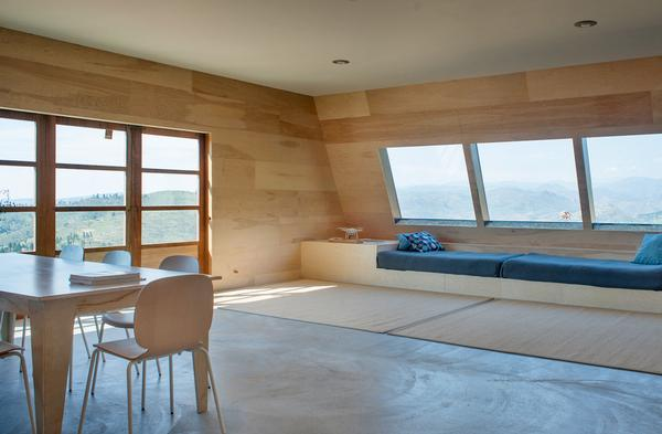 Birch plywood interior walls eliminate the need for primer or paint
