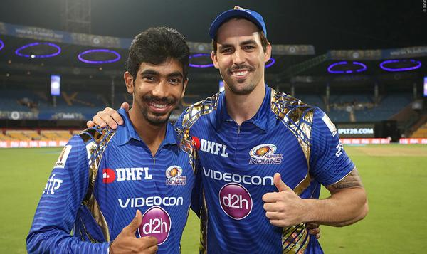 Australian cricketer Mitchell Johnson (right) was recruited to the IPL in 2014 to help draw crowds