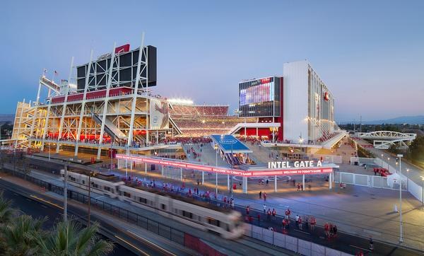 Levi Stadium, Santa Clara, US: The home of the San Francisco 49ers has LEED Gold certification