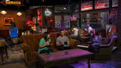 The production area of the attraction houses the original Central Perk Café from the set of <i>Friends</i> / Thinkwell Group