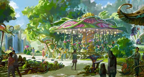 The park will be spread across five immersive lands