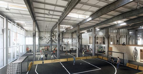 Streetmekka Viborg will feature indoor street football and street basketball pitches