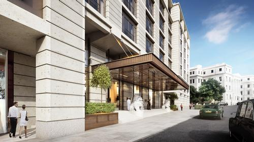 The building will be Peninsula's first hotel in the UK / Grosvenor