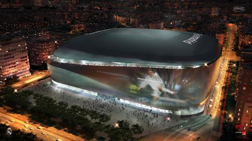 Real Madrid's new stadium will be wrapped in LEDs, creating a giant screen / GMP