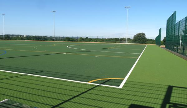 The new pitch is able to cater for hockey and football at both recreational and club level