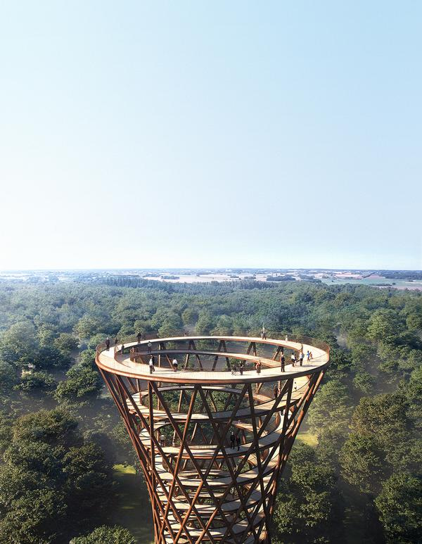 The walkway will make the forest more accessible, and provide views across the Gisselfeld estate / Image: EFFEKT