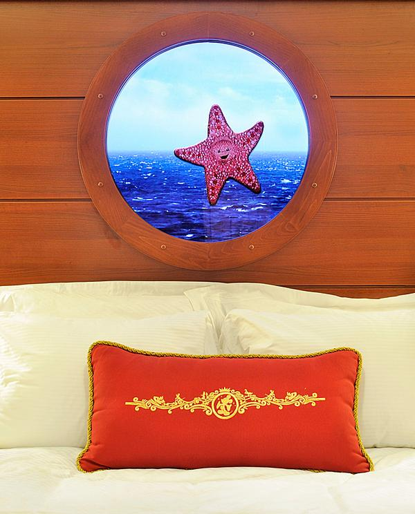 "Video ""portholes"" in underdeck cabins mix livestream footage with Disney animation"
