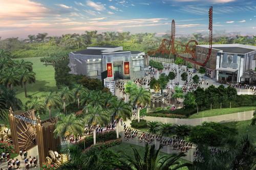 A concept image of the new Lionsgate Zone at Motiongate Dubai / Lionsgate