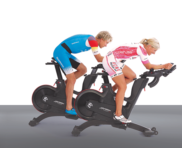 The IC8 from Life Fitness can be integrated with a VR training experience