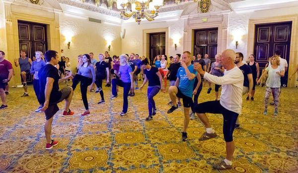 Jordan's workout was showcased at the Global Wellness Summit 2017 attendees tried